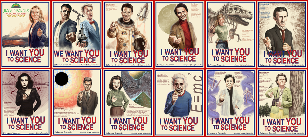 I Want YOU To Science posters