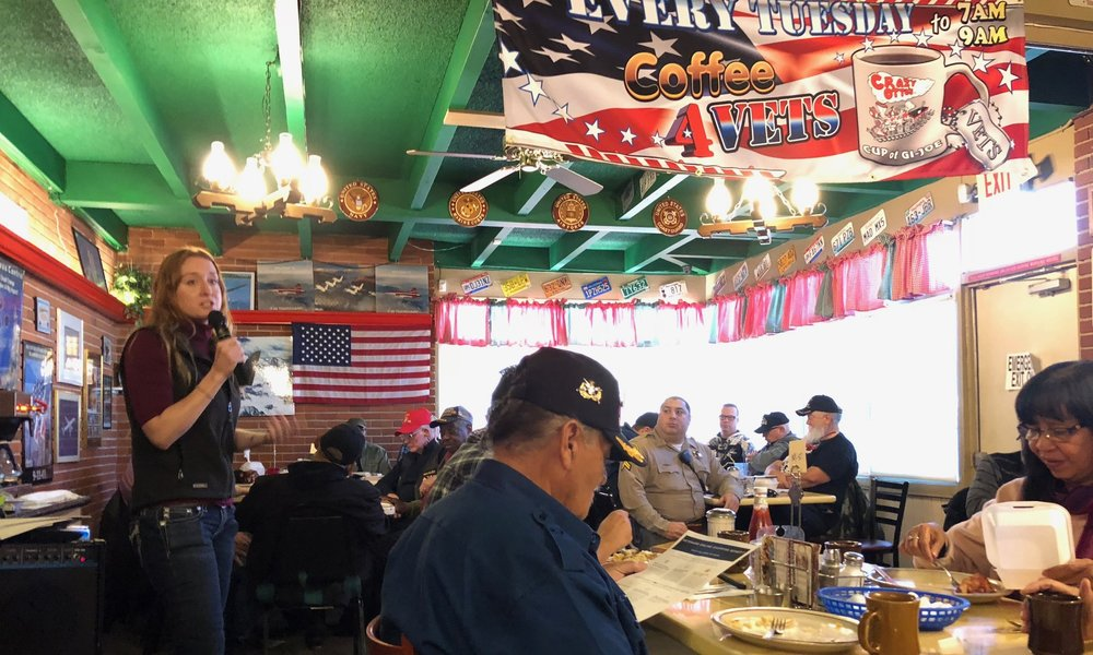 A great start to the day at Crazy Otto's weekly Coffee 4 Vets in Lancaster.
