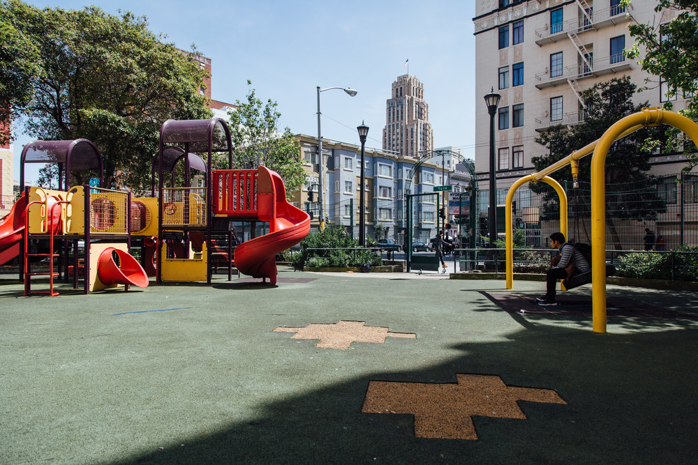 Tenderloin Wellness Trail - An initiative which works to improve and promote healthy sidewalk conditions by harnessing connection between Tenderloin area parks.READ MORE