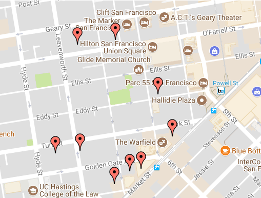 The Tenderloin Awakens After Years With No New Development The - San francisco map tenderloin district