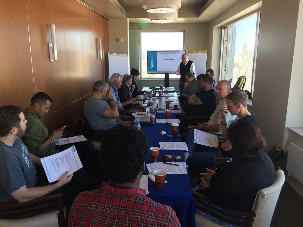 TLCBD Board of Directors work together during a board retreat, October 2017. Photo: TLCBD