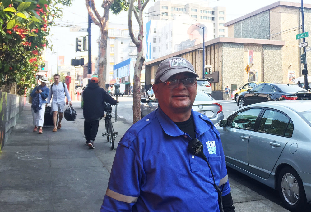 Meet Hector, our Larkin Street-LIttle Saigon Micro Neighborhood Clean Team member.
