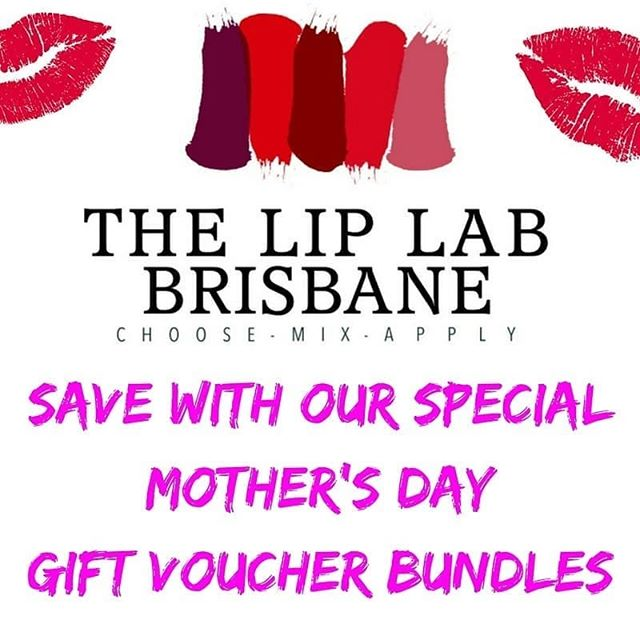 Pick up your Mother's day pressie at the Lip Lab Brisbane 💕 Our gift voucher bundles include // Option 1 - $30 1xcustom blended lipgloss with the choice of any Lip Lab nail polish // Option 2 - $70 1xcustom blended lipstick with the choice of any Lip Lab lip liner pencil // Option 3 - $70 1xcustom blended foundation with the choice of any BYO makeup brush 💋 Purchase online or in store by 13 May 🎁