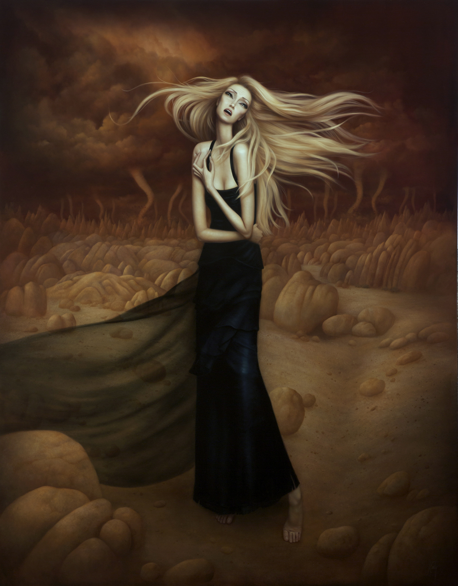 """The Pinnacle"" Oil on board ©Lori Earley"