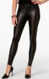 Hue Faux -leather Legging  $48