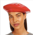 Leather beret  $198