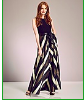 Gina Bacconi Chevron Maxi Dress  $412.49