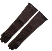Long Black Leather Gloves  $172
