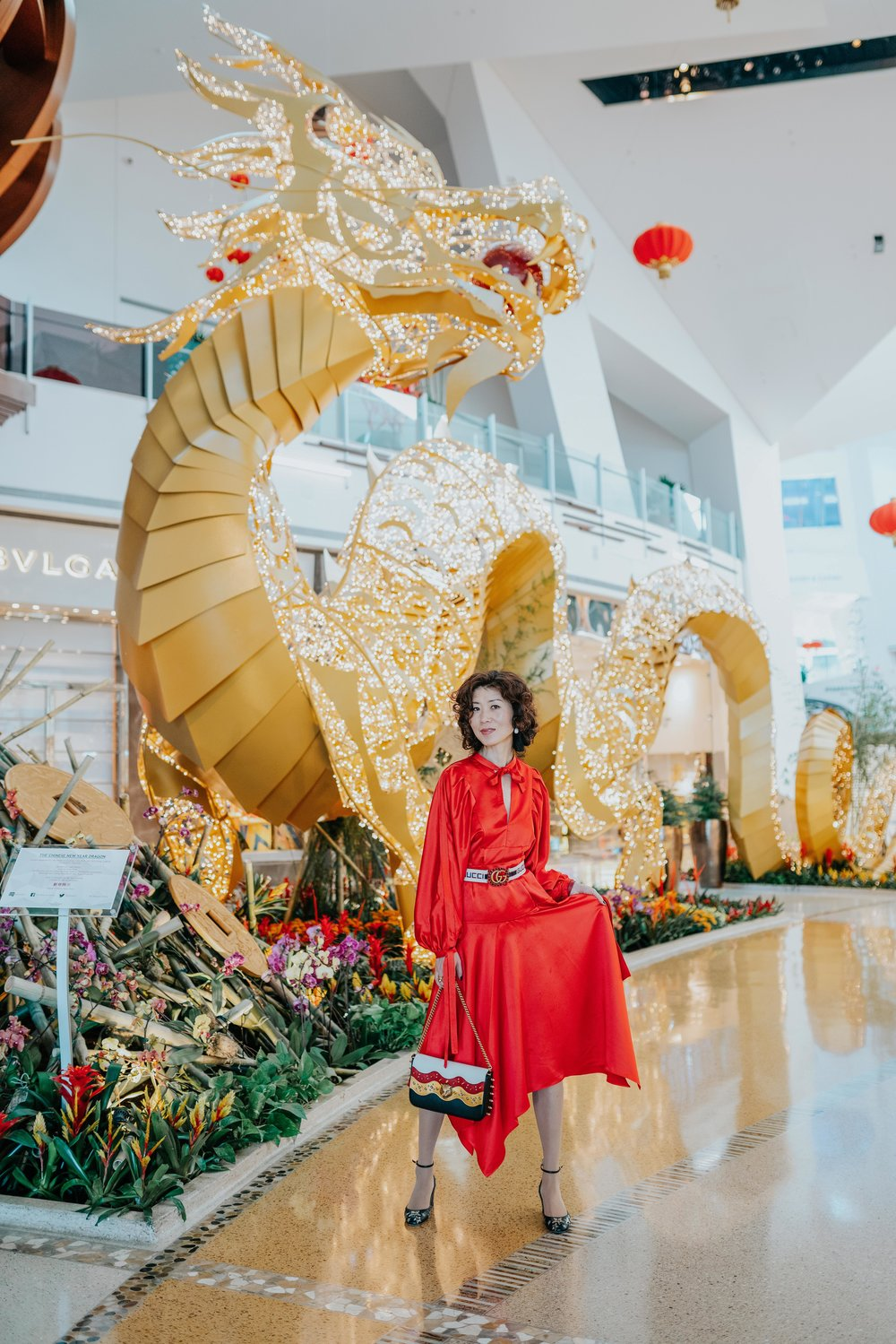 Wearing red brings luck during Chinese New Year.