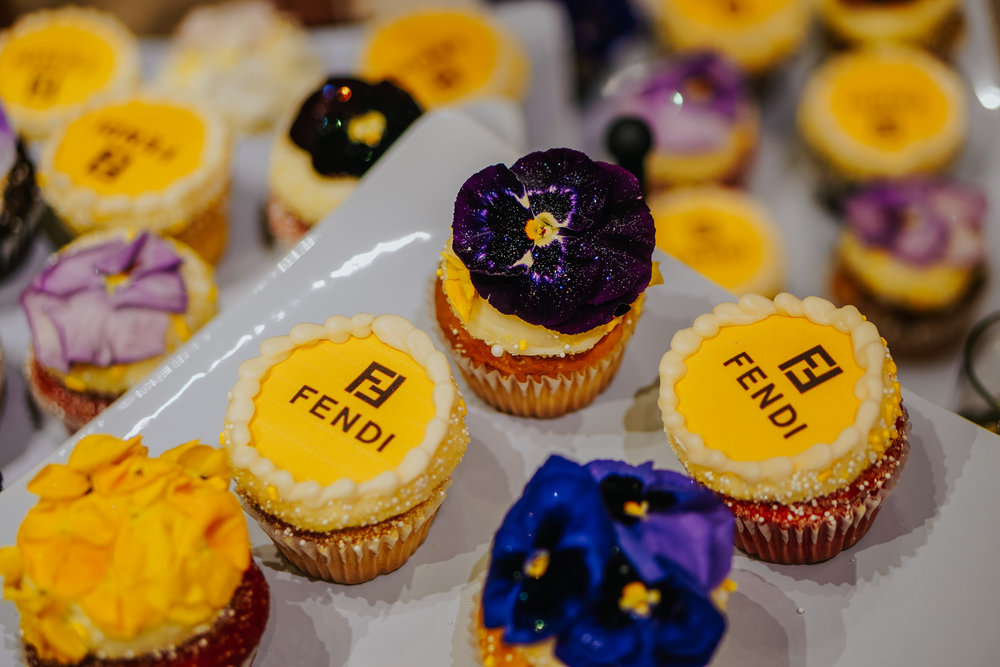 How cute are these cupcakes with Fendi logos?