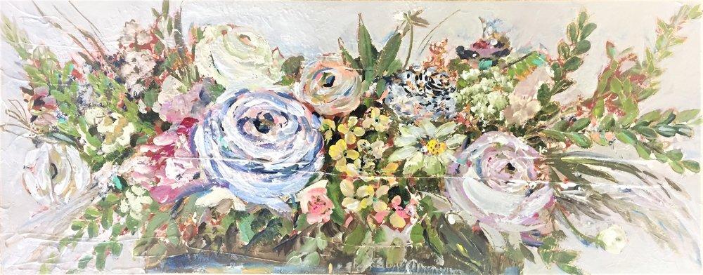 peony floral flower art