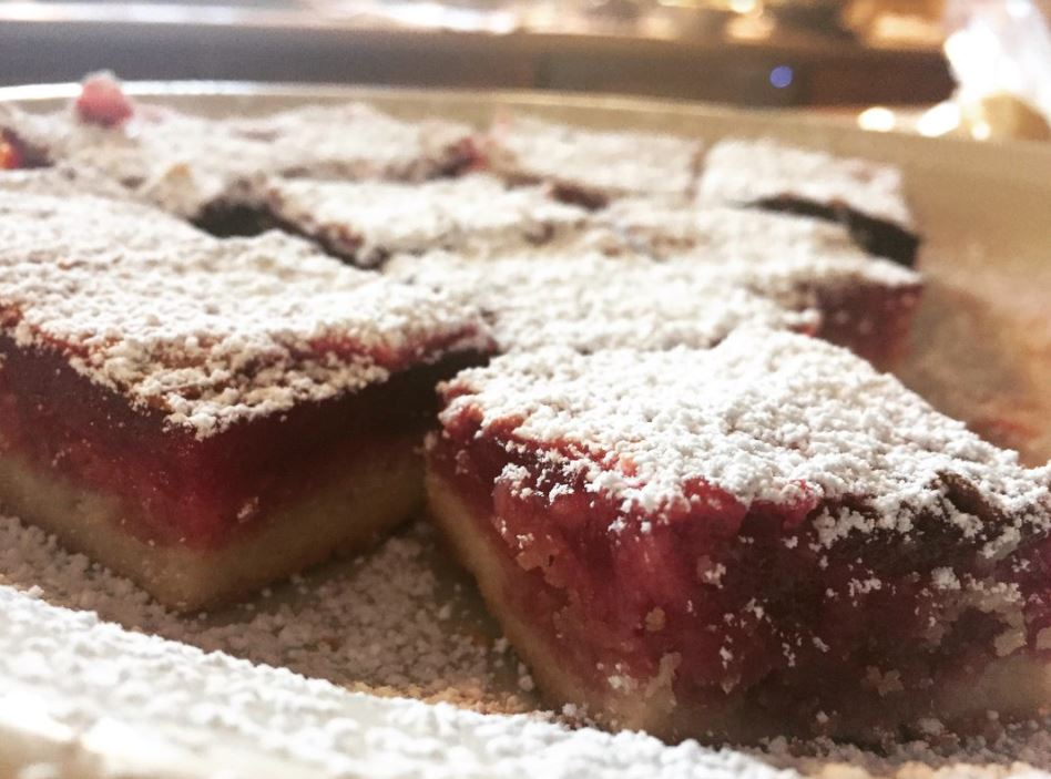 Cranberry bars with shortbread crust? Yes.