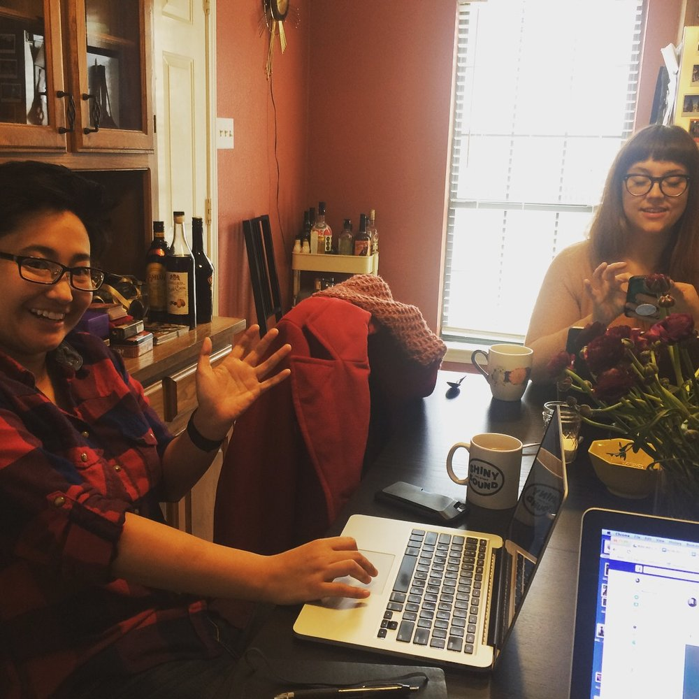 Spiderweb admin & pal Nina Chantanapumma was one of our official taste-testers on this special savory/sweet day, and we look forward to inviting more artists & friends into the kitchen as our morning-baking-adventures continue!