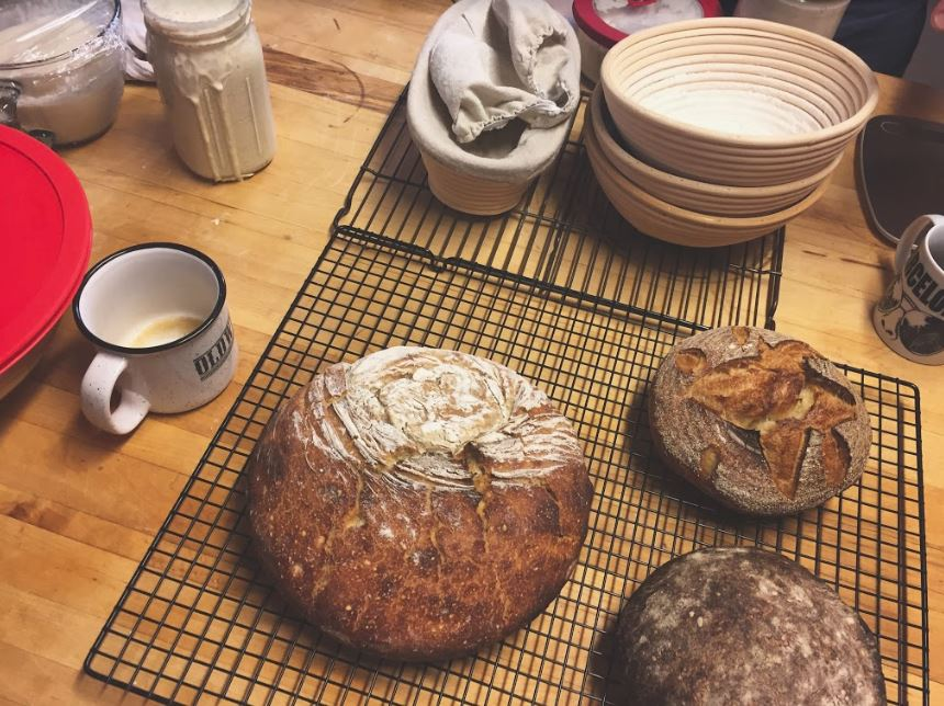 Sourdough success. Welcome to our little slice of heaven.
