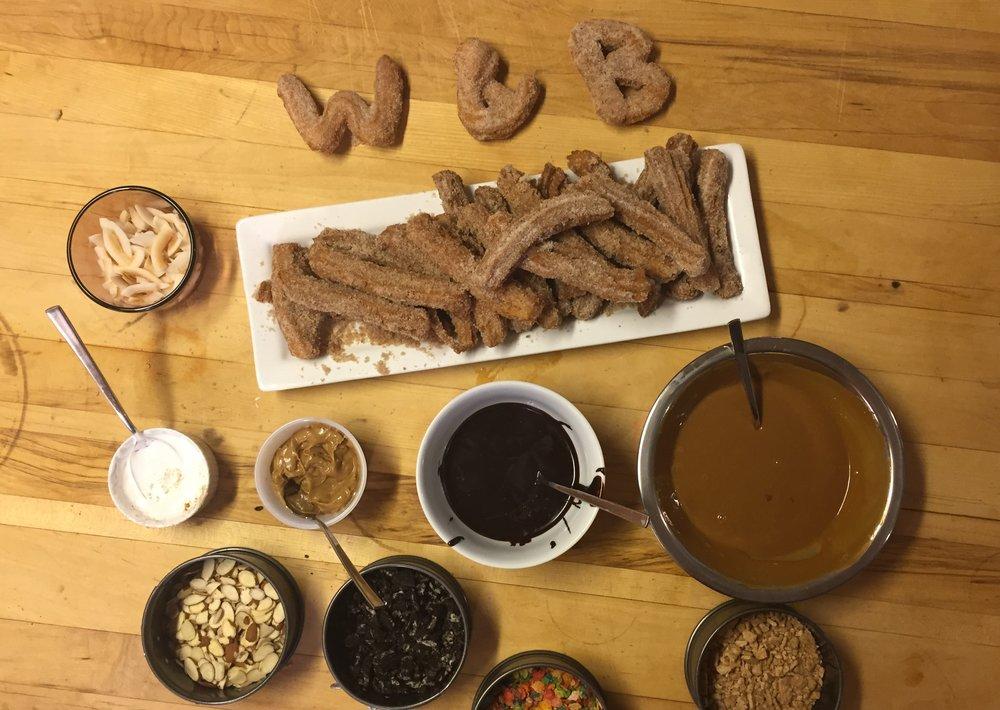 A churro buffet?Spoiler alert: it's delicious.
