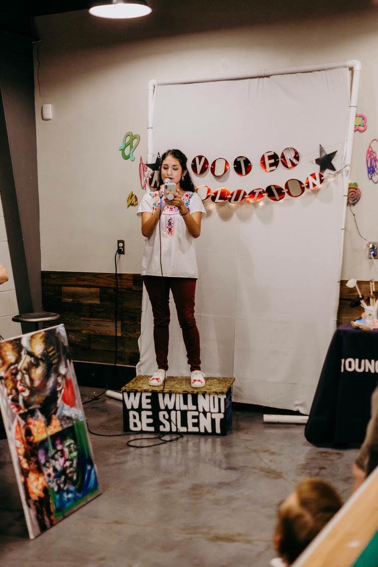 Alejandra Ramos Gómez at Voter Revolution