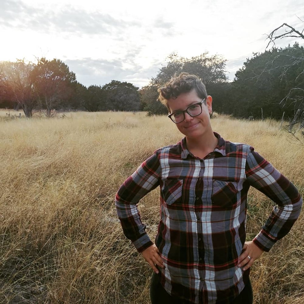 Morgan Larson / Morgan Lionheart  {they/them}  music, poetry, painting, performance art, theatre   Morgan is a nerd, weirdo, and elementary ecology teacher. They daydream of thriving native ecosystems and the fall of capitalism. You can find them reading Baldwin or eating Indian food.   Instagram