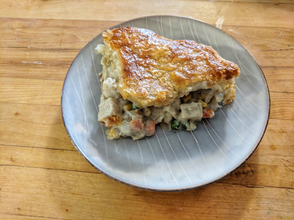 Vegetarian Chicken Pot Pie  photo by Caitlin Childs