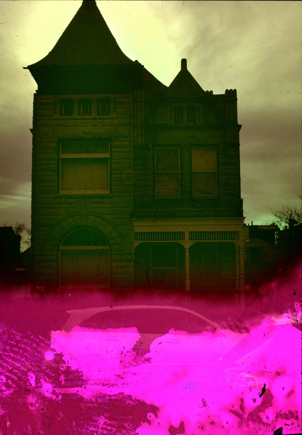 House (9 of 34) , 2017  ( Home Distortion  Series): 35mm slide film