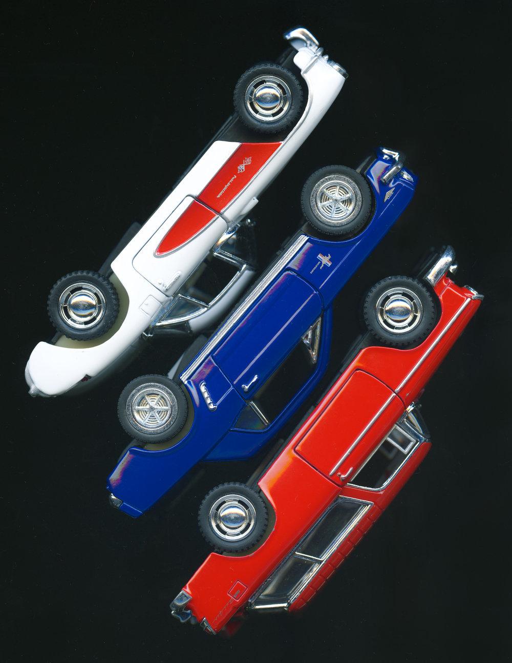 Triple Auto, 2018  ( Toys  Series): archival pigment print