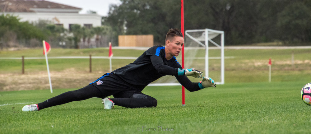 The U.S. Women's National Team trained in Orlando ahead of the She Believes match. PC: FARRIS PHOTOS