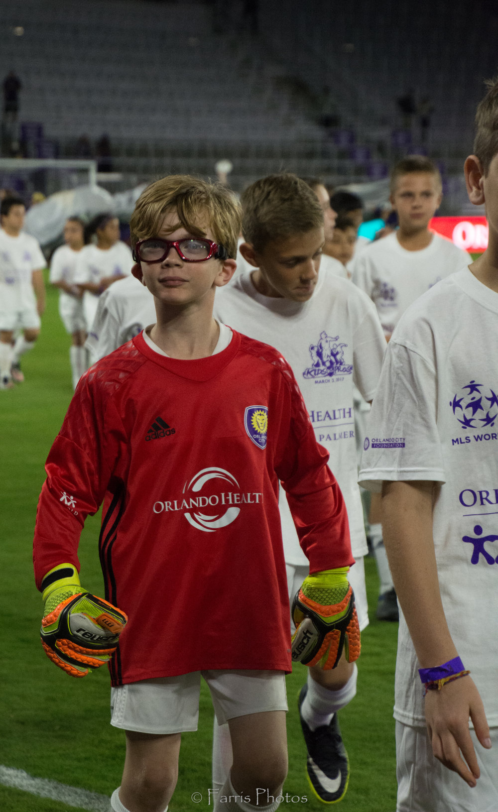 Kids vs. Pros Match Thursday, March 2, 2017 at the brand new Orlando City Stadium. PC: FARRIS PHOTOS