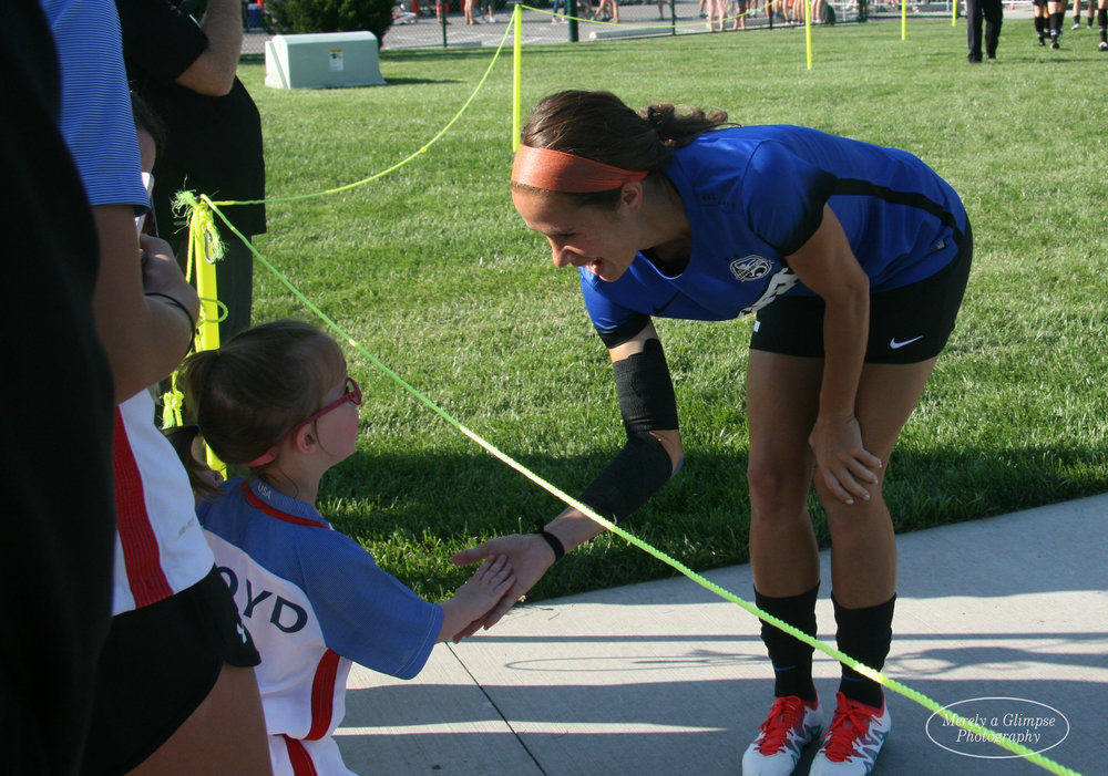 Women's soccer inspires people large and small <3