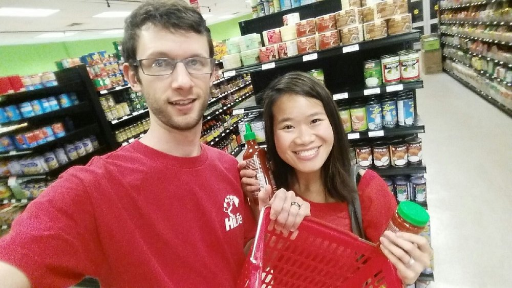 Back in 2014, when we had just moved to Florida, one of our first outings after we arrived was a trip to the Asian market for Sriracha, garlic chili, and fish sauce. The fish sauce is unfortunately not visible.