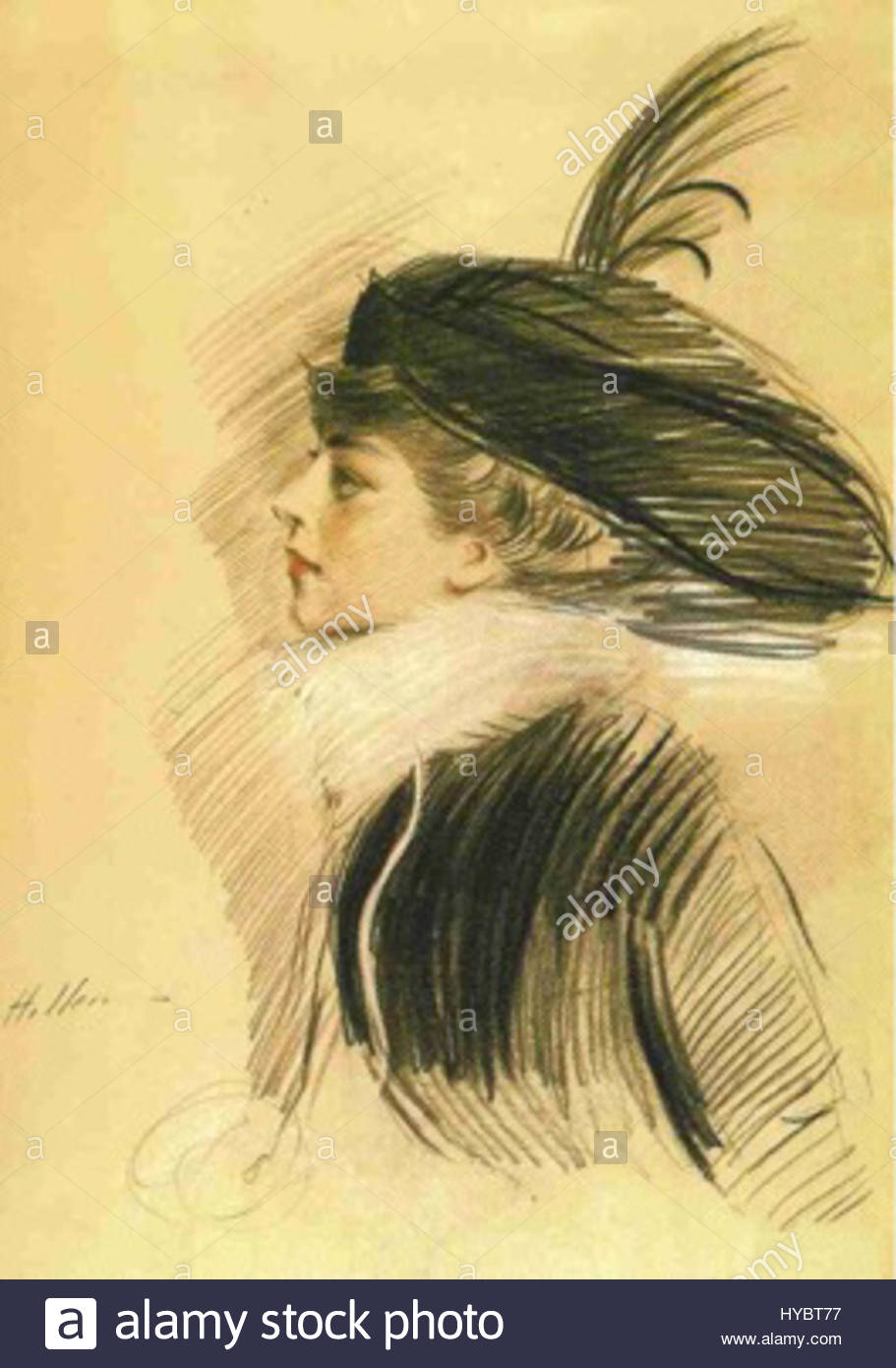 Portrait of Belle da Costa Greene by Paul-Cesar Helleu; 1913; Princeton University Library Records, Box 325; Princeton University Archives, Department of Rare Books and Special Collections, Princeton University Library