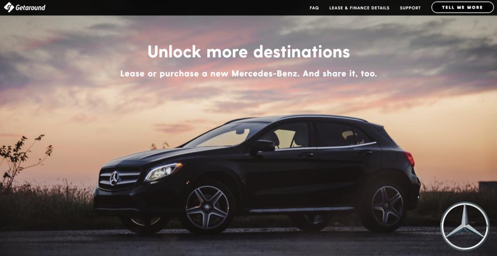 Getaround Mercedes-Benz Lease and Finance Deal