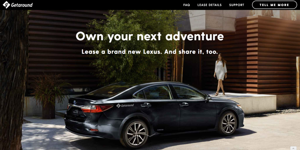 Getaround Lexus Lease Deal