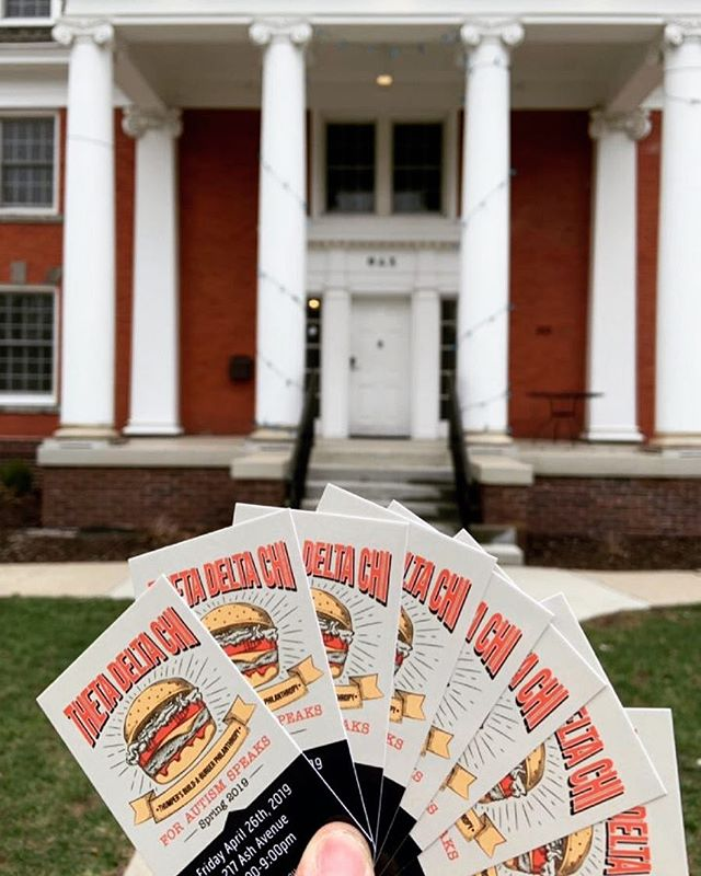 Only a few days until Thumper's Build-A-Burger Philanthropy!!! 🍔 🍔🍔 Be sure to purchase your ticket from a brother in time for Friday! #autismawareness