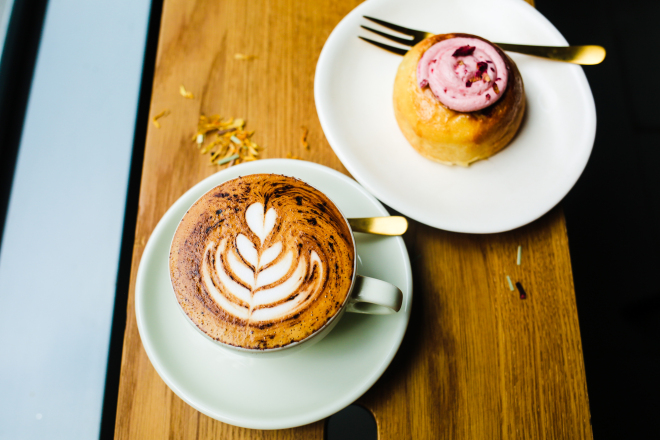 Coffee and cakes at Melbourne's inner city cafe, Gold Drops.jpg