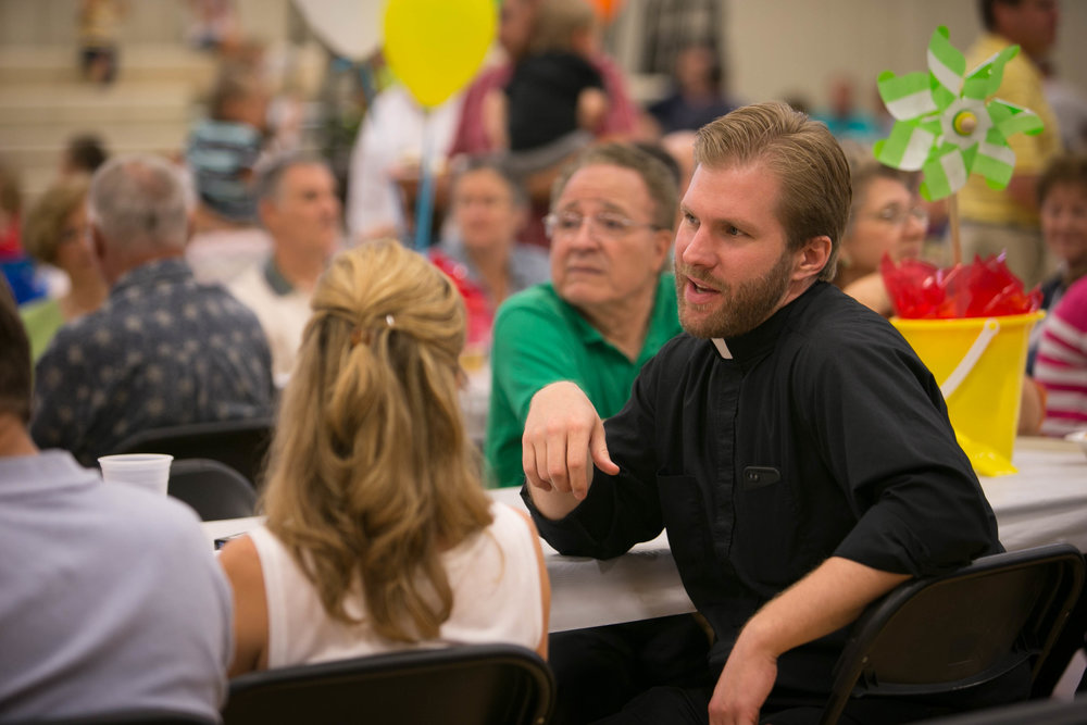There are over a dozen different Fellowship groups and ministries at St. Jude Catholic Church including the parish potluck, pictured above.  Get involved and get to know your fellow parishioners!  See below for details.