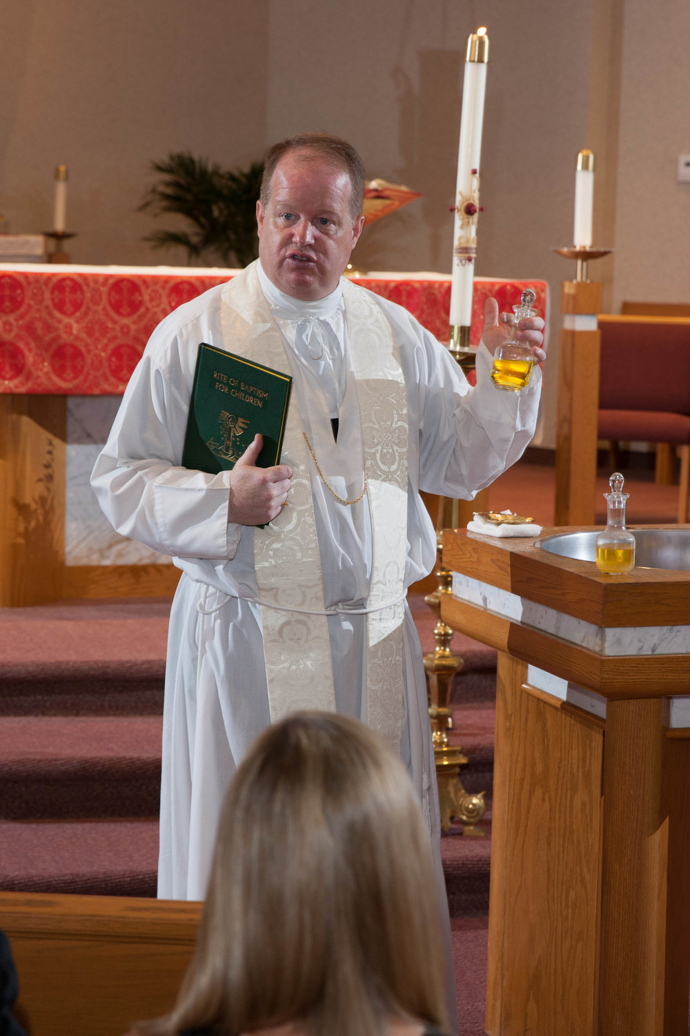 Fr. Henehan at Baptism