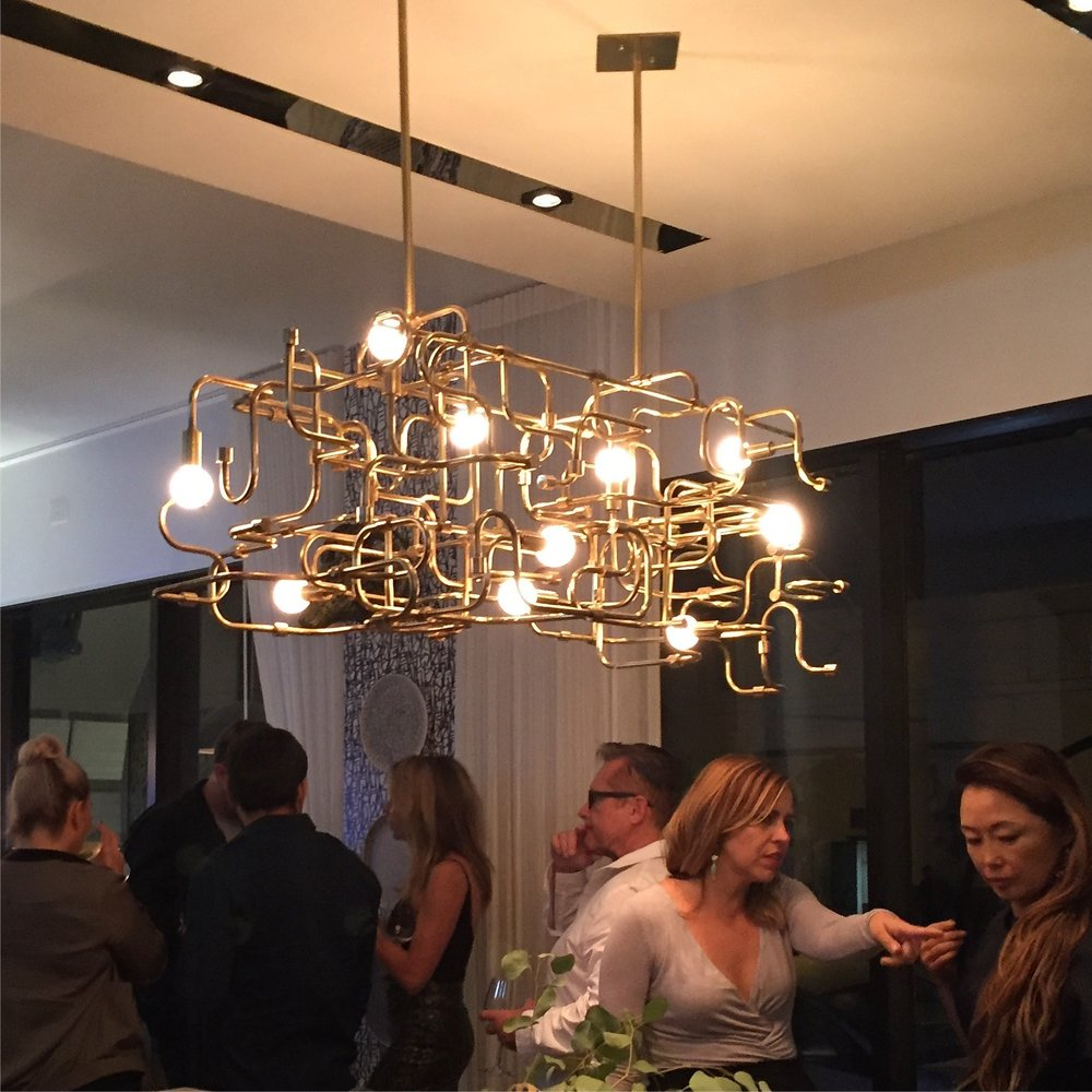"Circuit Chandelier                                              40"" x 36"" x 18""                                    Custom Sizes Available.                                           Brass and Steel"