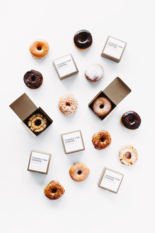 donut wedding favors