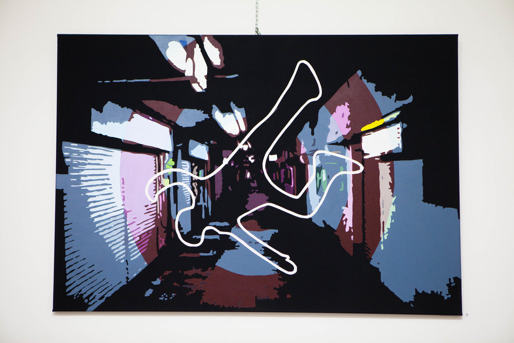 ALINE BOUTROIS   Née à Téhéran en 1969, Aline BOUTROIS, est une artiste Française, autodidacte vivant à Antibes.  A partir de 1988, elle explore par ses propres moyens le monde des formes et des couleurs, expérimentant différents matériaux et techniques : peinture, modelage, couture, travail du bois, du métal…  Son parcours passe par la rencontre et la mise en œuvre de différentes techniques artistiques, et artisanales : technicienne décoratrice dans des festivals, tapissière, décoratrice d'intérieur, créatrice de décors pour les grands magasins…  En 1997, elle développe avec succès une ligne originale de luminaires, qu'elle réalise elle-même et vend lors d'expositions etde salons.  A partir de 2011, elle se consacre plus entièrement à la peinture, son domaine privilégié d'expression.     Born in Tehran in 1969, Aline BOUTROIS is a French self-taught artist living in Antibes.    Starting 1988 she explores one her own the world of shapes and colors, experimenting various techniques and materials: painting, modelling, sewing, wood, metal…    Her course drove her to various crafts and artistic techniques: tapestry, decorator for festivals and interiors, creation of shop decoration…,    In 1997 she meets quite some success with a series of lamps she creates and fabricates, and sells on exhibitions and creator fairs.    Since 2011 she dedicates herself essentially to painting, her favorite domain of expression.