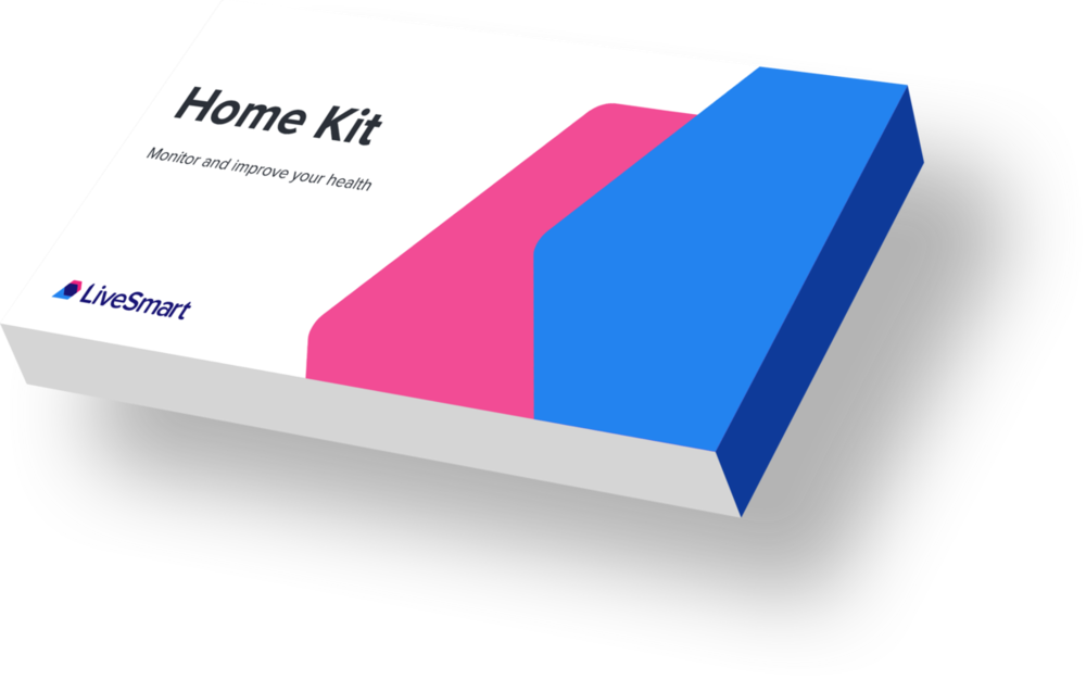 A testing kit can be sent to the user's home, or a nurse can visit to take the sample -