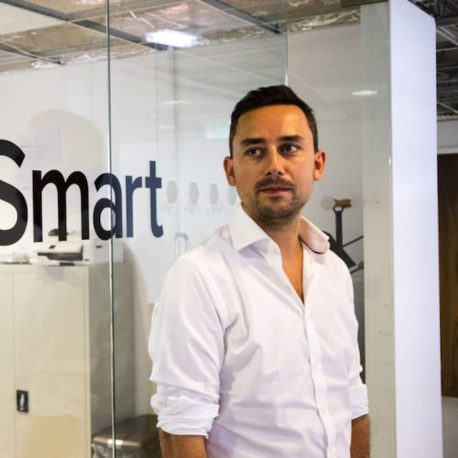 LiveSmart's Founder and CEO  Alex Heaton  in their office near Old Street.