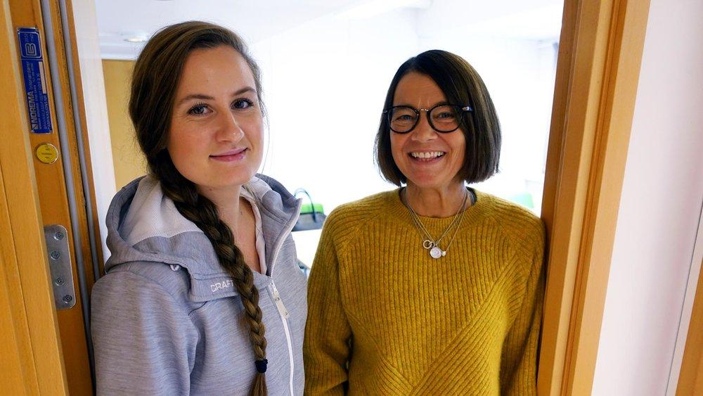 Helene Ulvik Stenseth og Tone Botten er to av tre som skal jobbe frå vårt nye Førde-kontor.