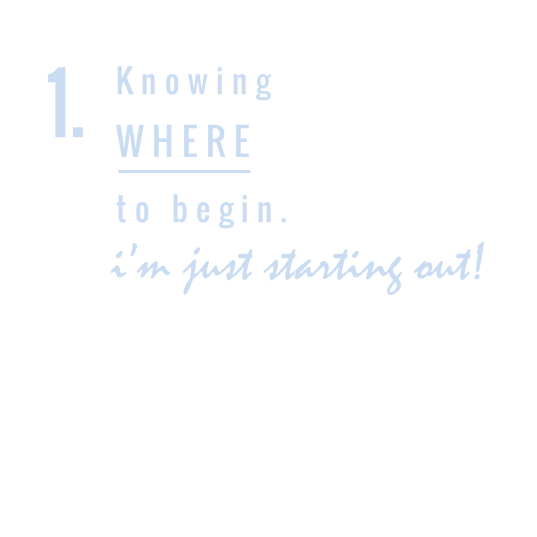 KNOWING WHERE TO BEGIN // SAMOSBISTON.COM