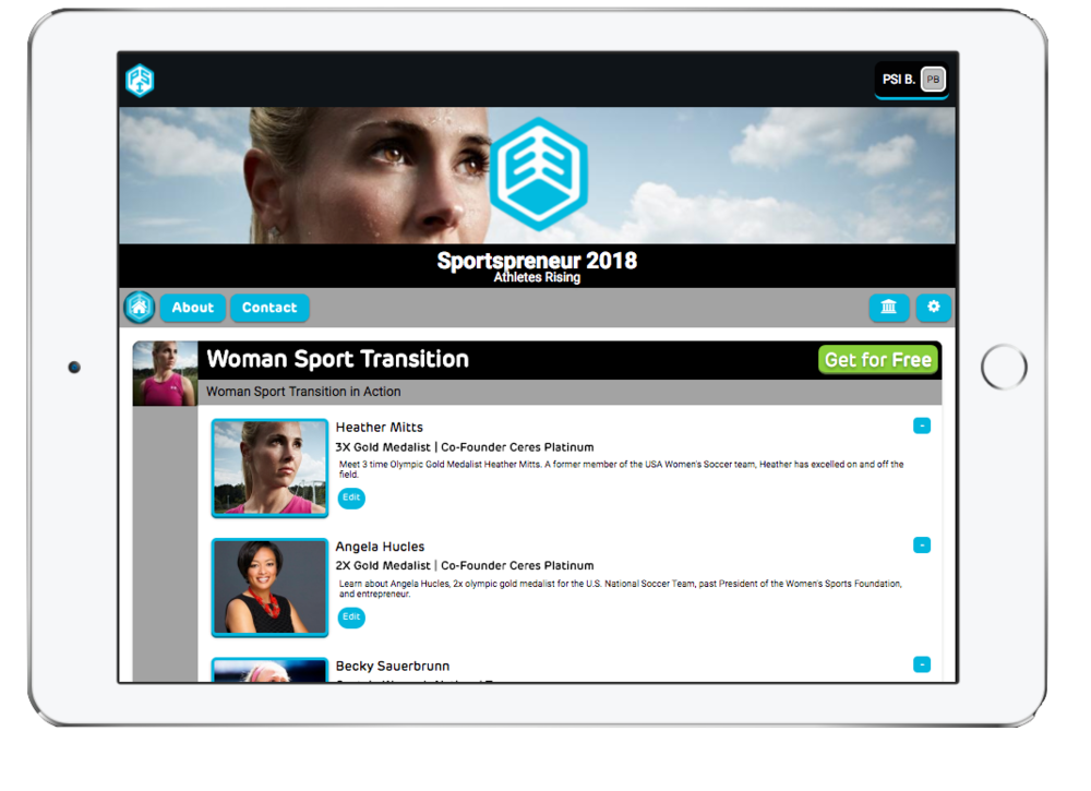 On Demand - Sportsprenuer is offering the first digital sports academy free to over 30 million youth athletes