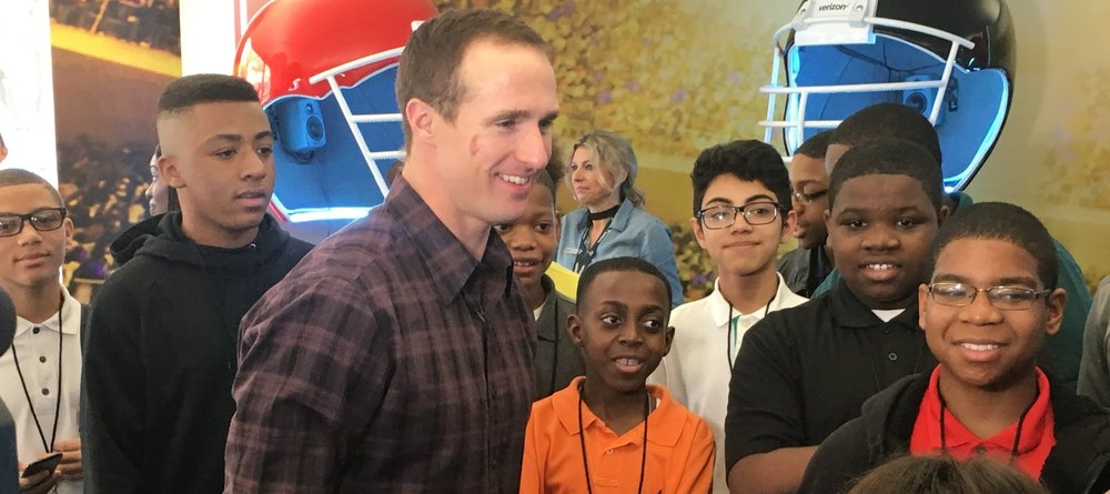 Go experience  how Saints QB Drew Brees involvement in the New Orleans Community is building his brand value.