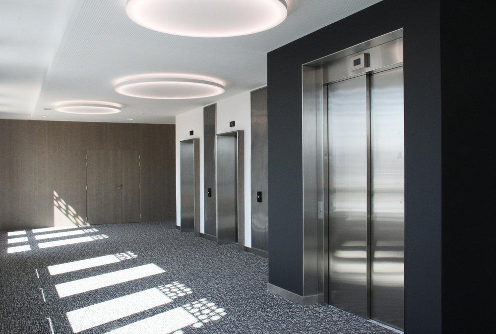 NANTERRE - Aménagement et décoration des parties communes d'un immeuble de bureaux92000 |Livré en juillet 2017