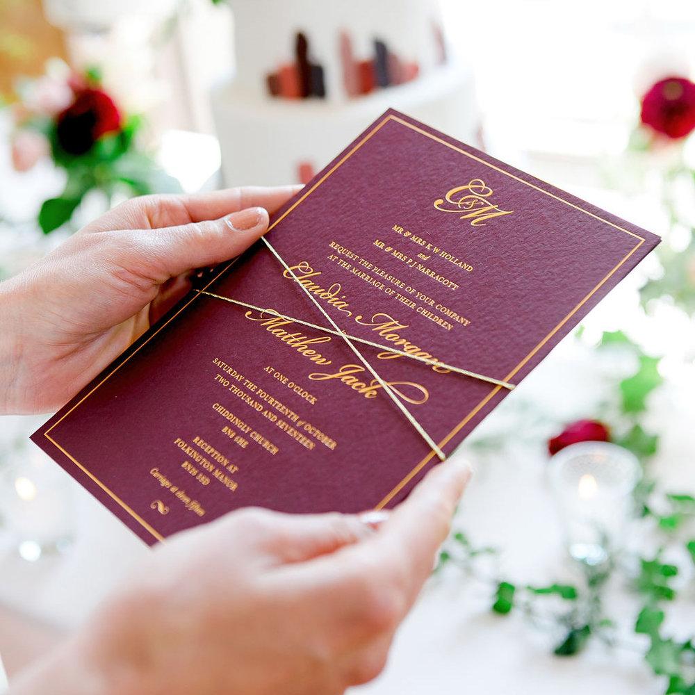 sq_folkington_manor_claret_dappled_wedding_invite_stationery_monogram_gold_foil_wax_seal_04.jpg