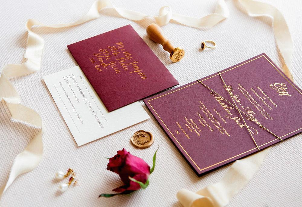 folkington_manor_claret_dappled_wedding_invite_stationery_monogram_gold_foil_wax_seal_16.jpg