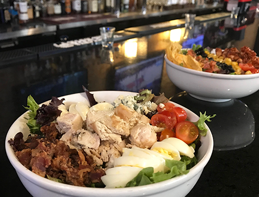 Cobb Salad (front) and Chipotle Chicken Salad (back)