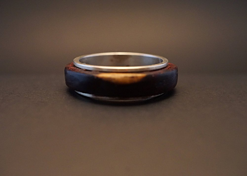 Cocobolo spinner ring