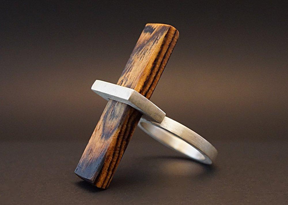 Bocote wood ring
